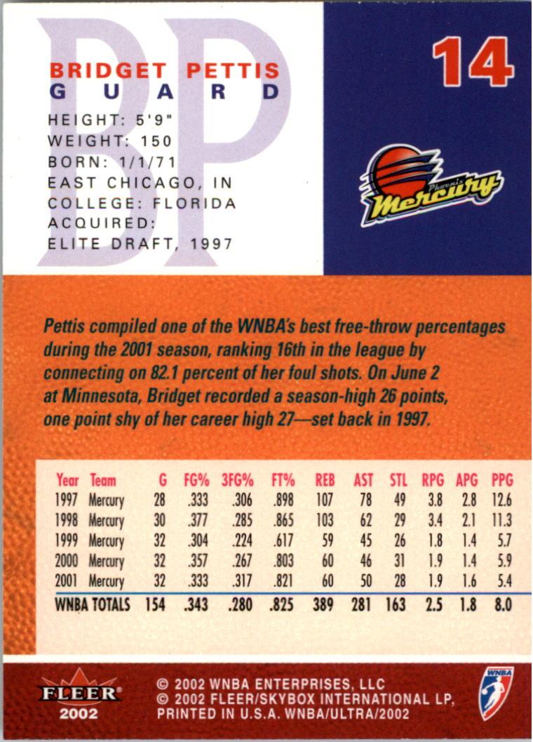 2002-Ultra-Wnba-Basketball-Carte-Choisissez miniature 29