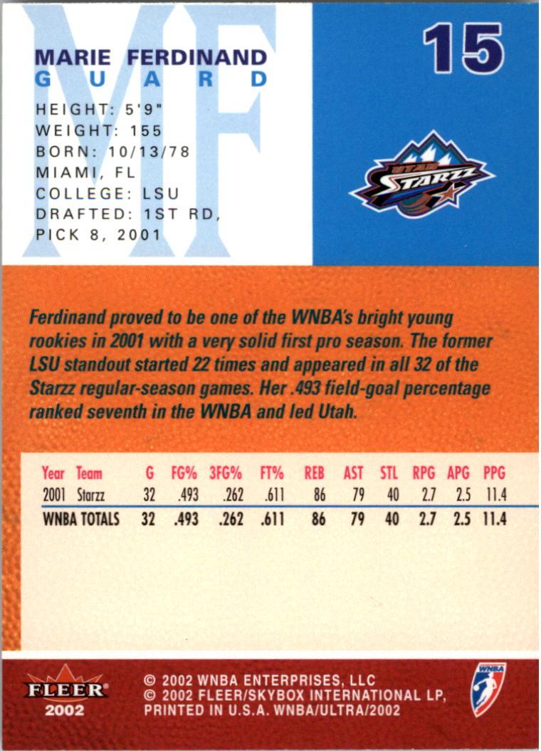 2002-Ultra-Wnba-Basketball-Carte-Choisissez miniature 31