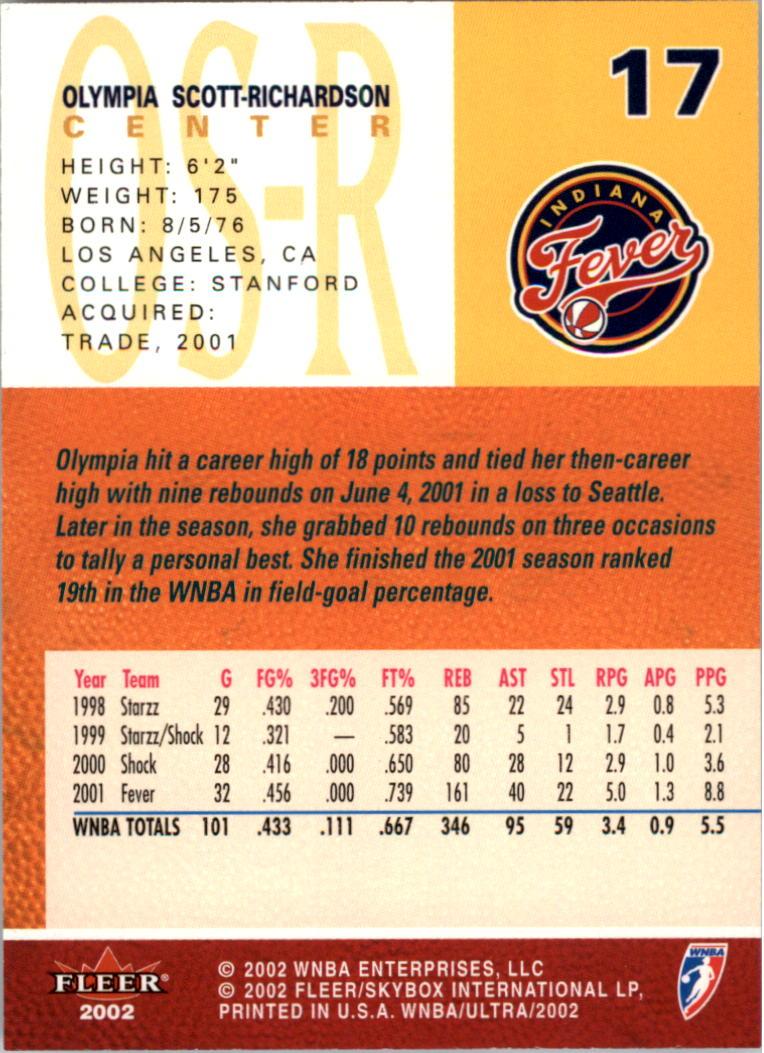 2002-Ultra-Wnba-Basketball-Carte-Choisissez miniature 35