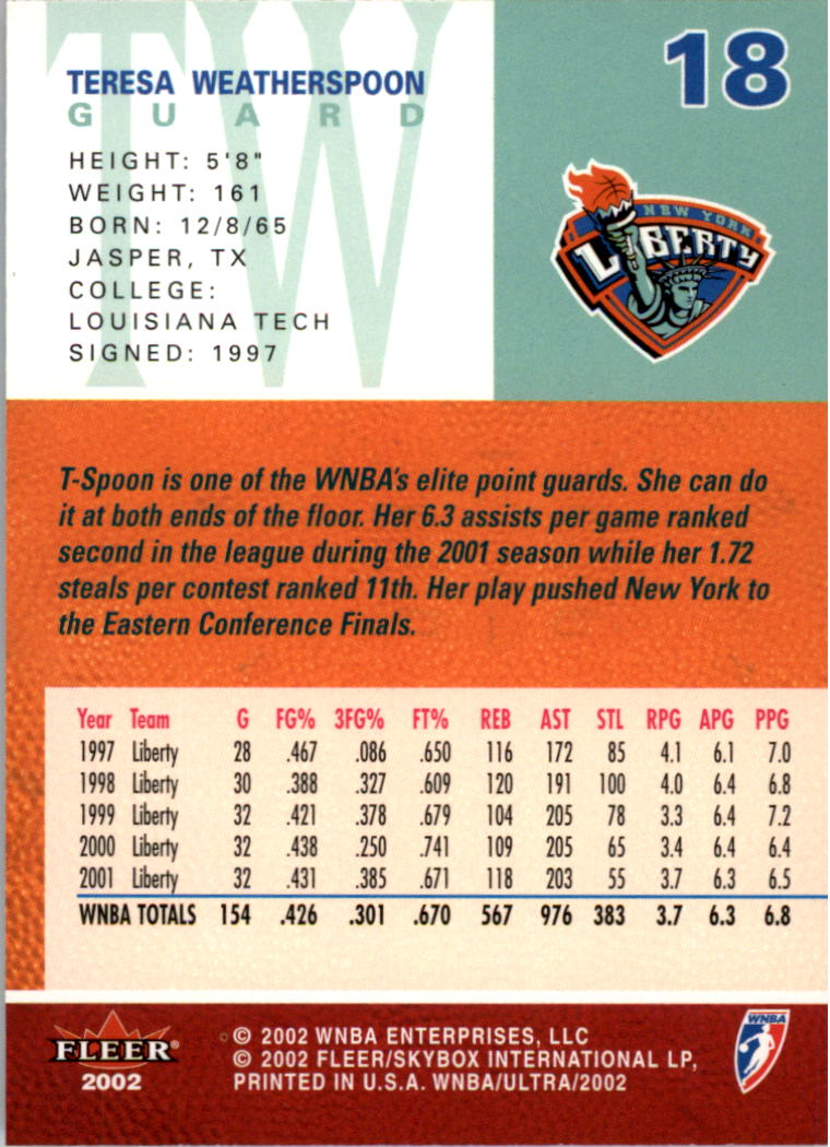 2002-Ultra-Wnba-Basketball-Carte-Choisissez miniature 37