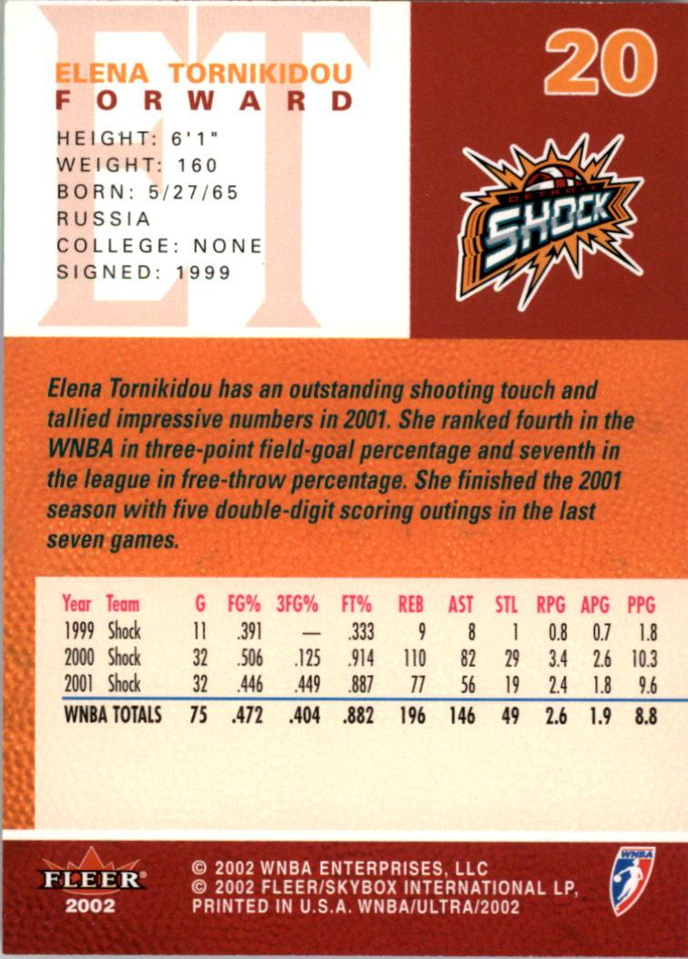 2002-Ultra-Wnba-Basketball-Carte-Choisissez miniature 41