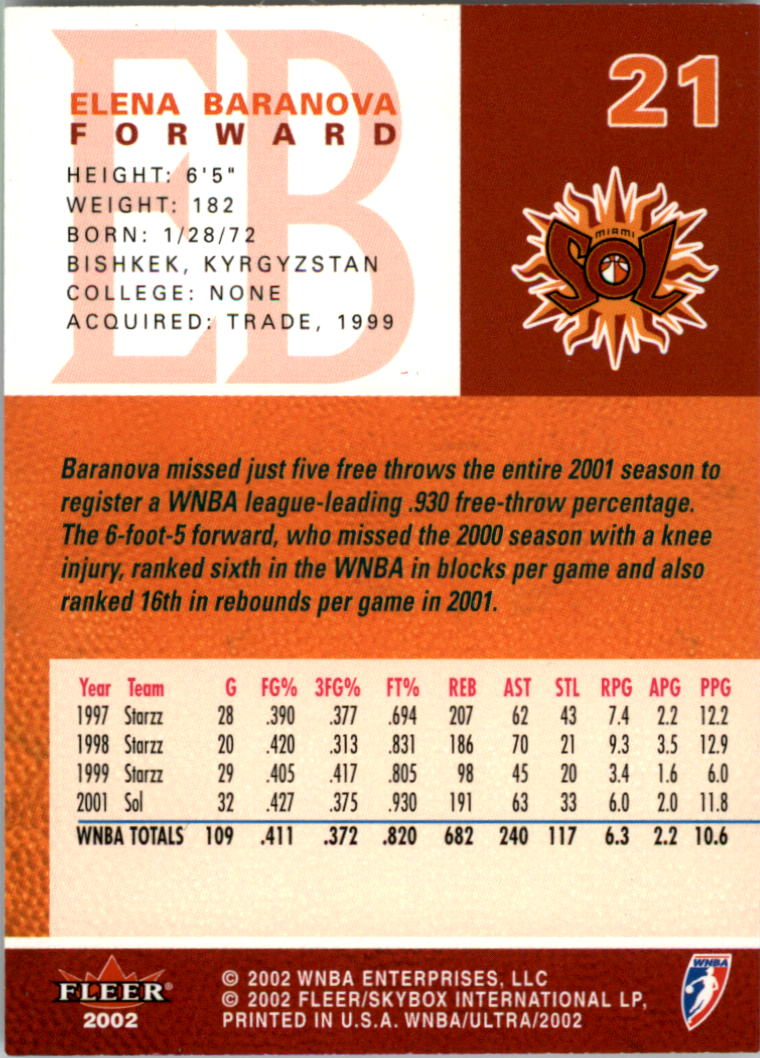 2002-Ultra-Wnba-Basketball-Carte-Choisissez miniature 43
