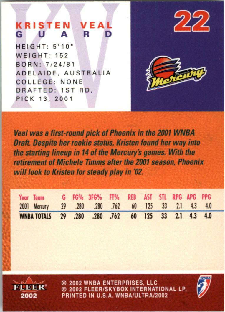 2002-Ultra-Wnba-Basketball-Carte-Choisissez miniature 45