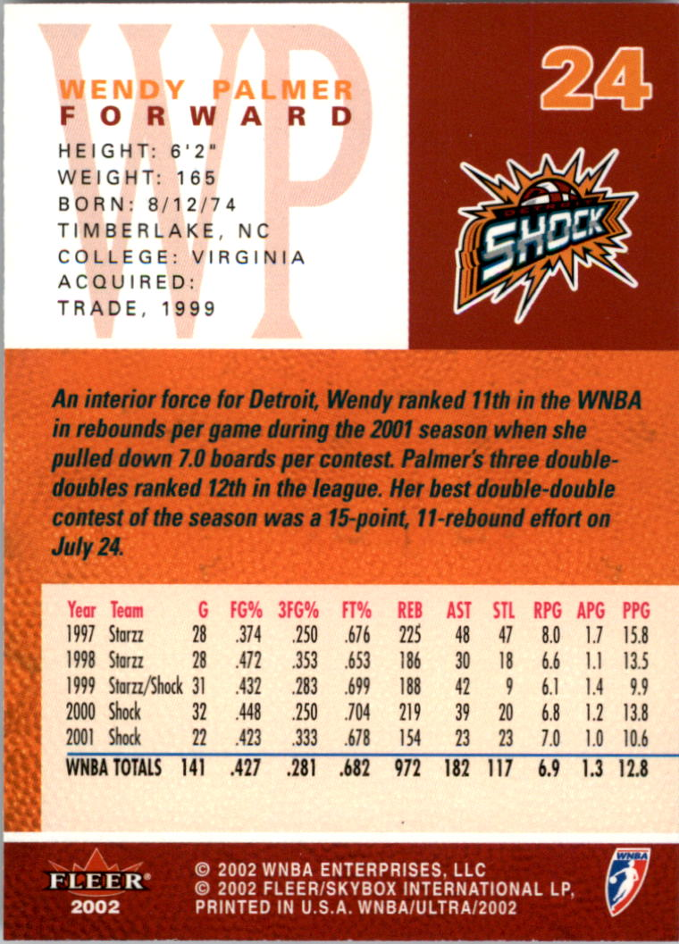 2002-Ultra-Wnba-Basketball-Carte-Choisissez miniature 49