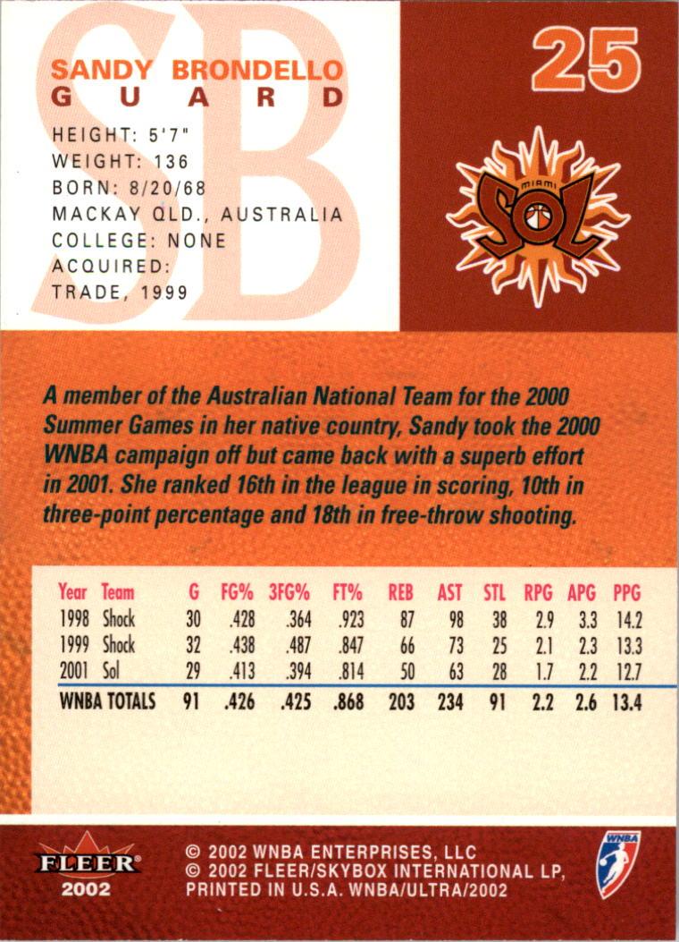 2002-Ultra-Wnba-Basketball-Carte-Choisissez miniature 51