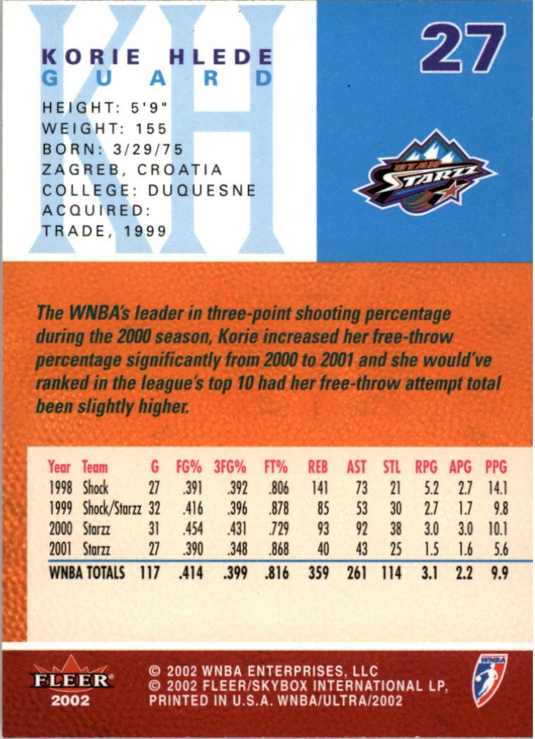 2002-Ultra-Wnba-Basketball-Carte-Choisissez miniature 55