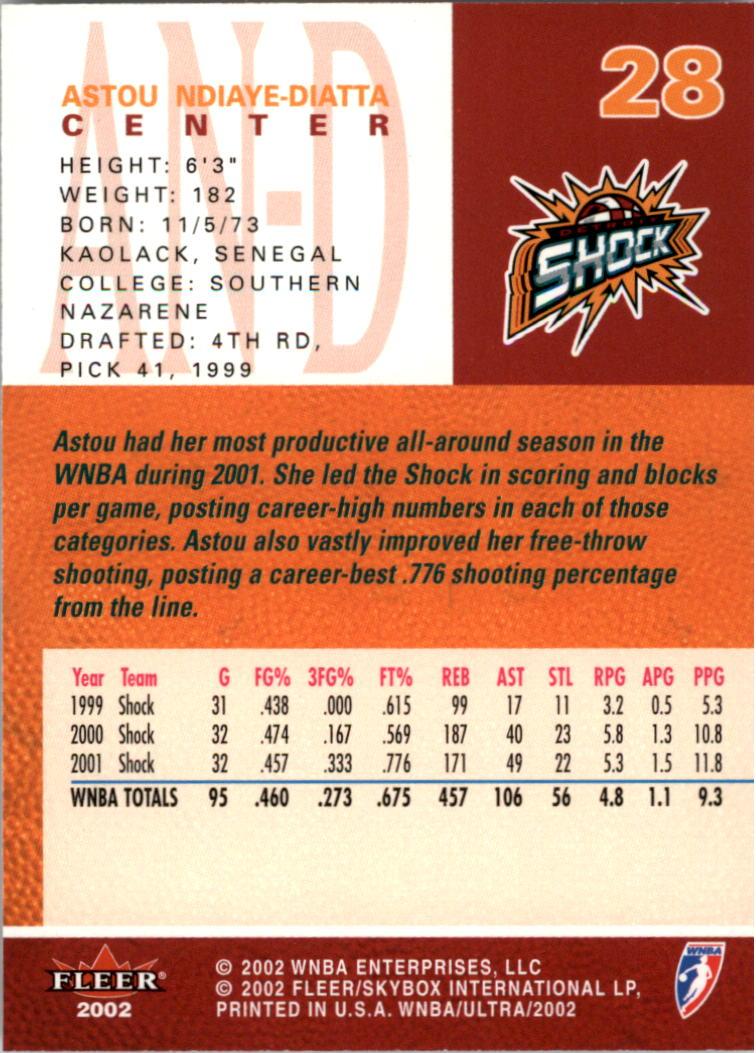 2002-Ultra-Wnba-Basketball-Carte-Choisissez miniature 57