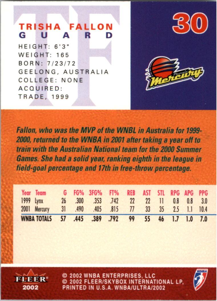 2002-Ultra-Wnba-Basketball-Carte-Choisissez miniature 61
