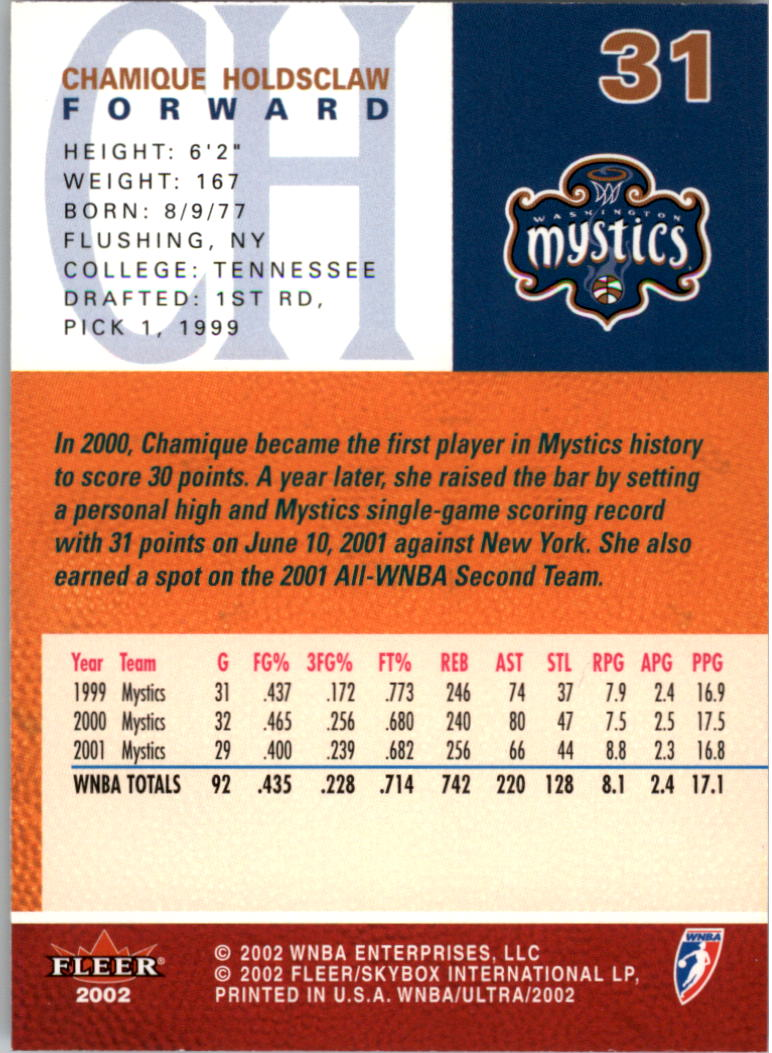 2002-Ultra-Wnba-Basketball-Carte-Choisissez miniature 63
