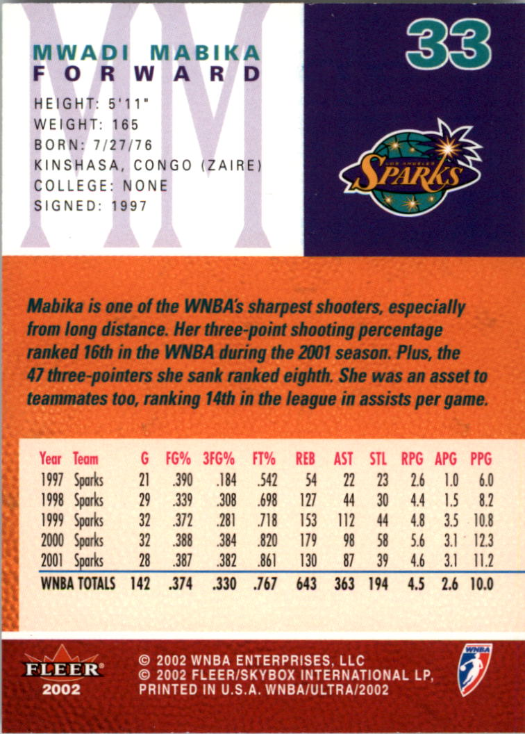 2002-Ultra-Wnba-Basketball-Carte-Choisissez miniature 67