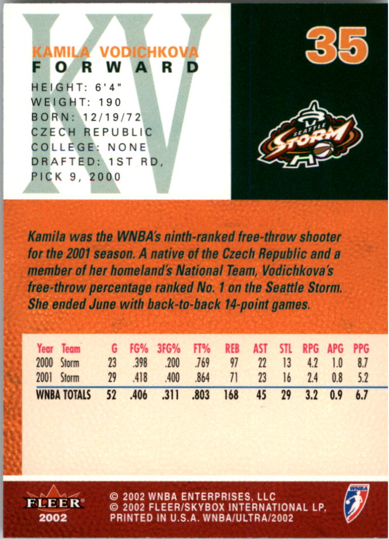 2002-Ultra-Wnba-Basketball-Carte-Choisissez miniature 71