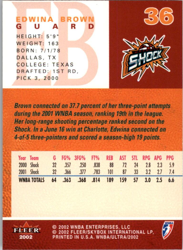 2002-Ultra-Wnba-Basketball-Carte-Choisissez miniature 73