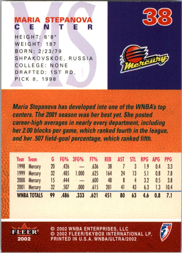 2002-Ultra-Wnba-Basketball-Carte-Choisissez miniature 77