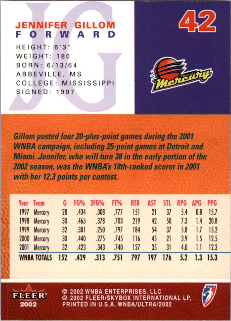 2002-Ultra-Wnba-Basketball-Carte-Choisissez miniature 85