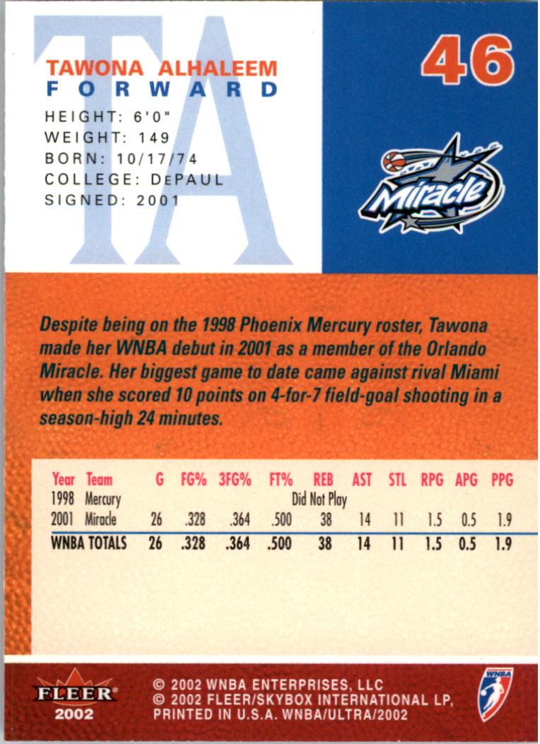 2002-Ultra-Wnba-Basketball-Carte-Choisissez miniature 91