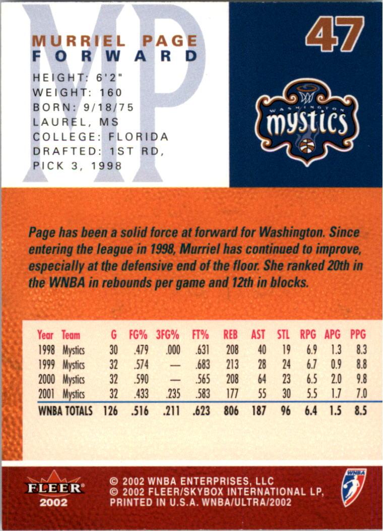 2002-Ultra-Wnba-Basketball-Carte-Choisissez miniature 93