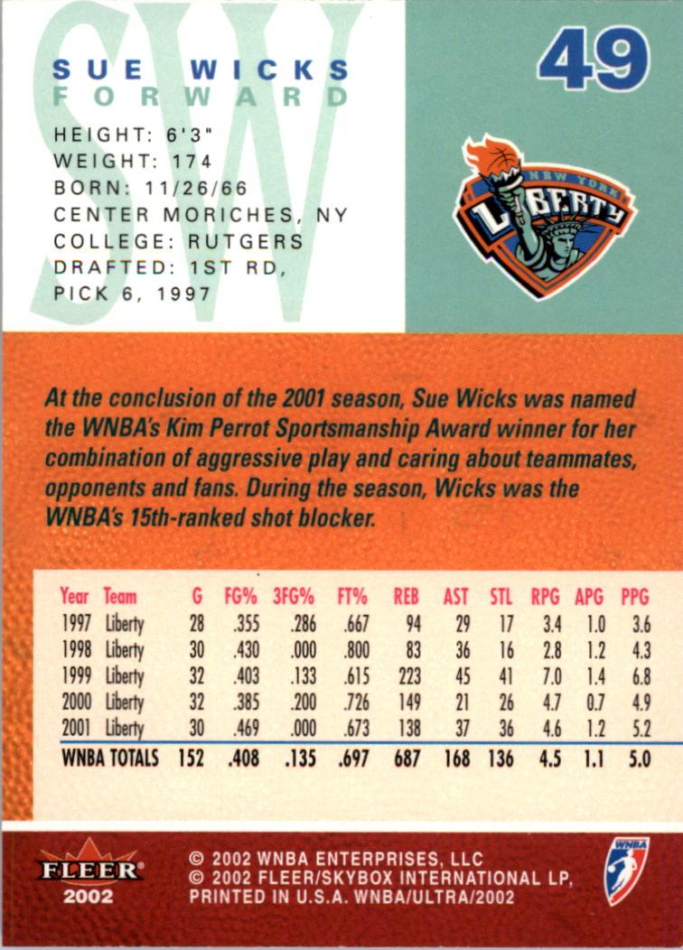 2002-Ultra-Wnba-Basketball-Carte-Choisissez miniature 99