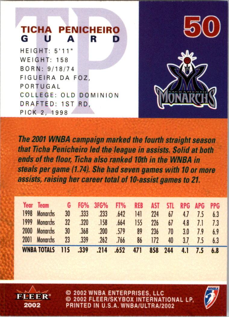 2002-Ultra-Wnba-Basketball-Carte-Choisissez miniature 101