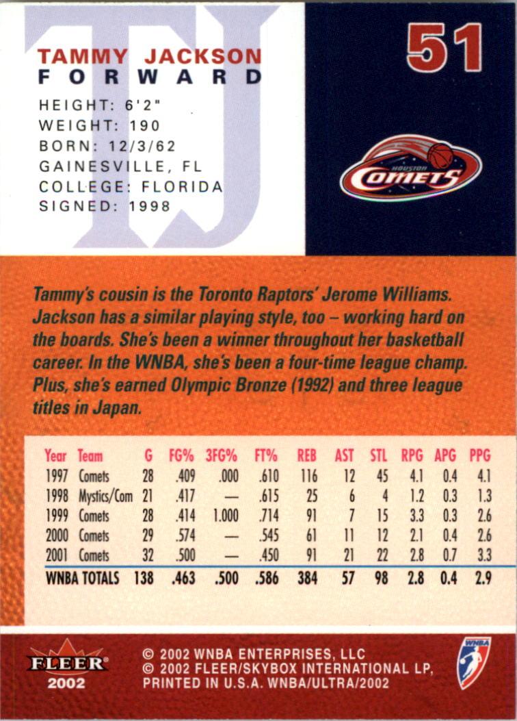 2002-Ultra-Wnba-Basketball-Carte-Choisissez miniature 103