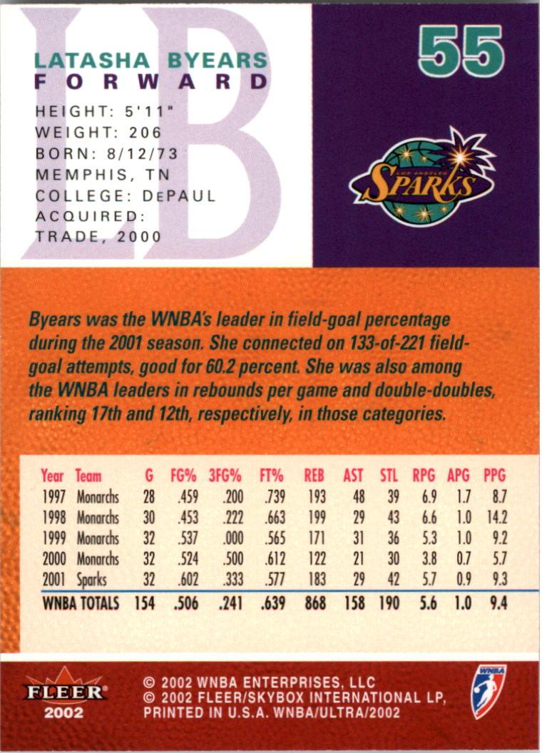 2002-Ultra-Wnba-Basketball-Carte-Choisissez miniature 111