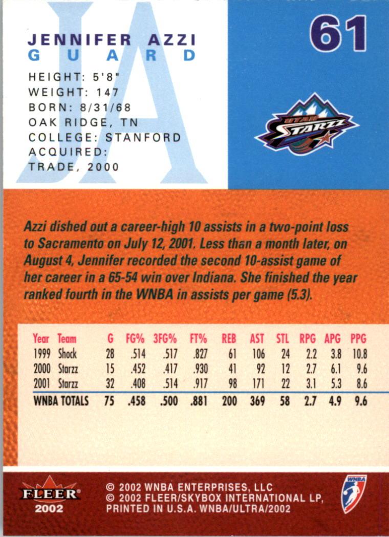 2002-Ultra-Wnba-Basketball-Carte-Choisissez miniature 123