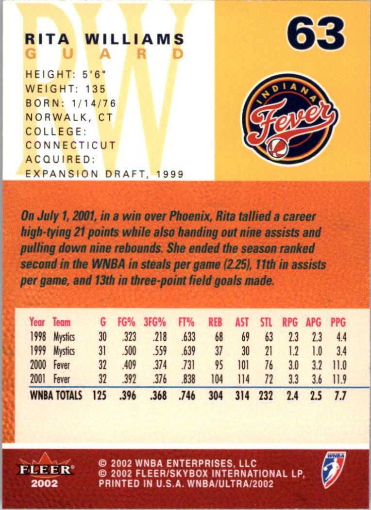 2002-Ultra-Wnba-Basketball-Carte-Choisissez miniature 127