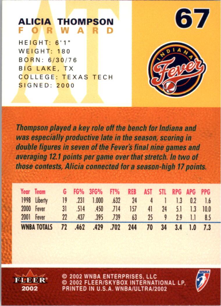 2002-Ultra-Wnba-Basketball-Carte-Choisissez miniature 135