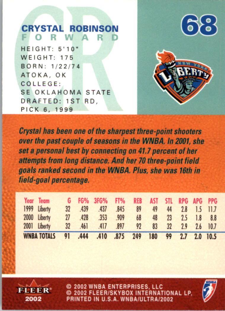 2002-Ultra-Wnba-Basketball-Carte-Choisissez miniature 137