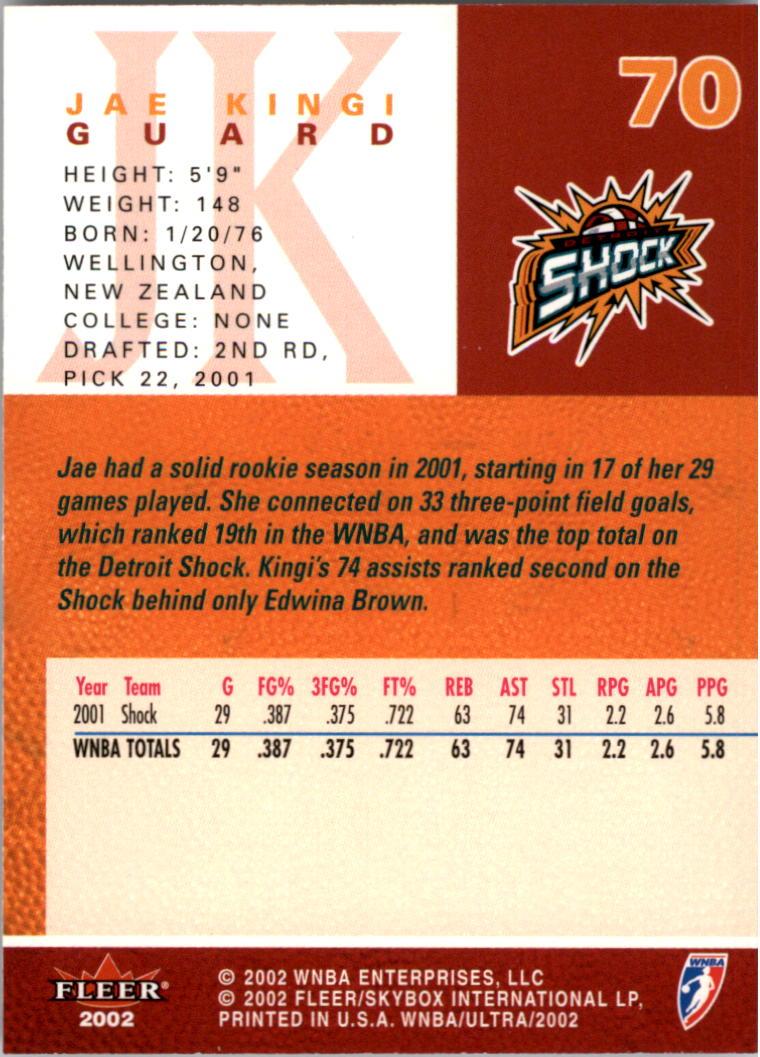2002-Ultra-Wnba-Basketball-Carte-Choisissez miniature 139