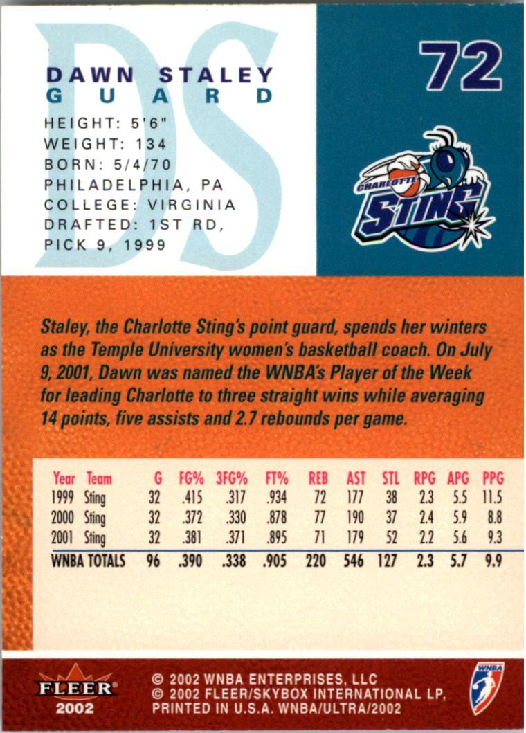 2002-Ultra-Wnba-Basketball-Carte-Choisissez miniature 143