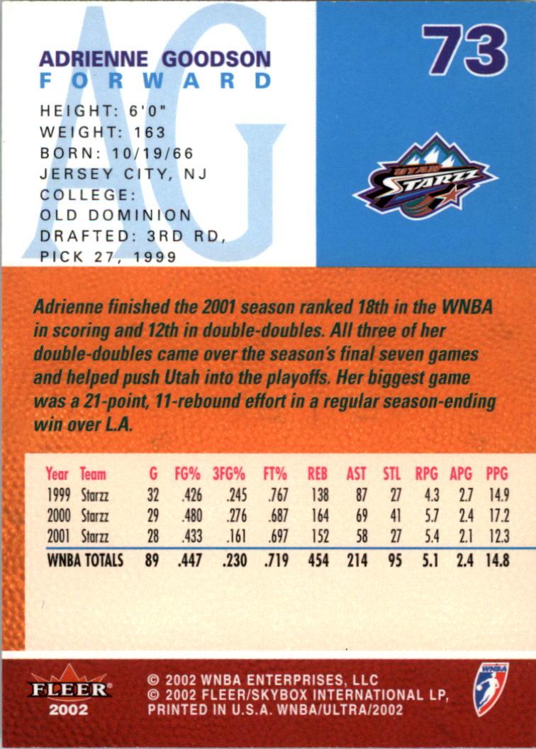 2002-Ultra-Wnba-Basketball-Carte-Choisissez miniature 145