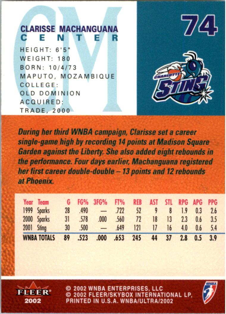 2002-Ultra-Wnba-Basketball-Carte-Choisissez miniature 149