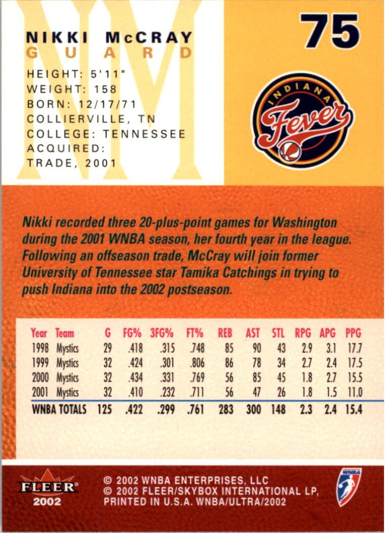2002-Ultra-Wnba-Basketball-Carte-Choisissez miniature 151