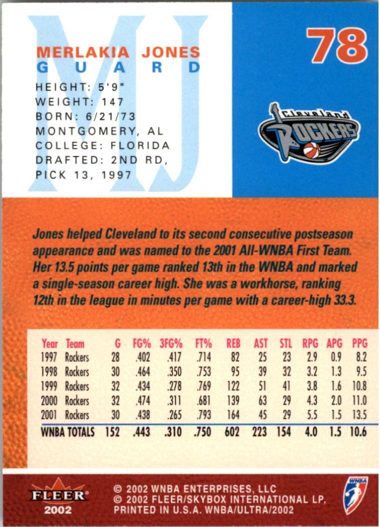 2002-Ultra-Wnba-Basketball-Carte-Choisissez miniature 157