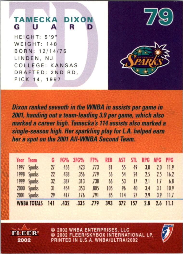 2002-Ultra-Wnba-Basketball-Carte-Choisissez miniature 159