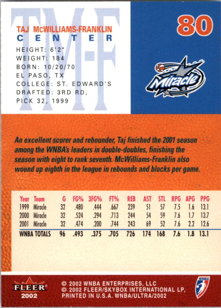 2002-Ultra-Wnba-Basketball-Carte-Choisissez miniature 161
