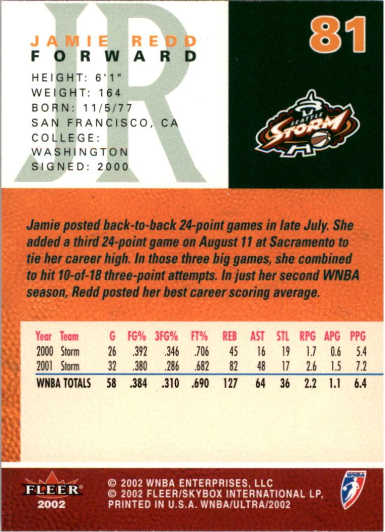 2002-Ultra-Wnba-Basketball-Carte-Choisissez miniature 163