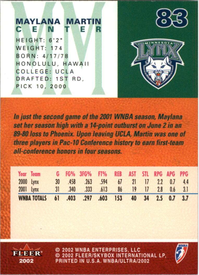 2002-Ultra-Wnba-Basketball-Carte-Choisissez miniature 167