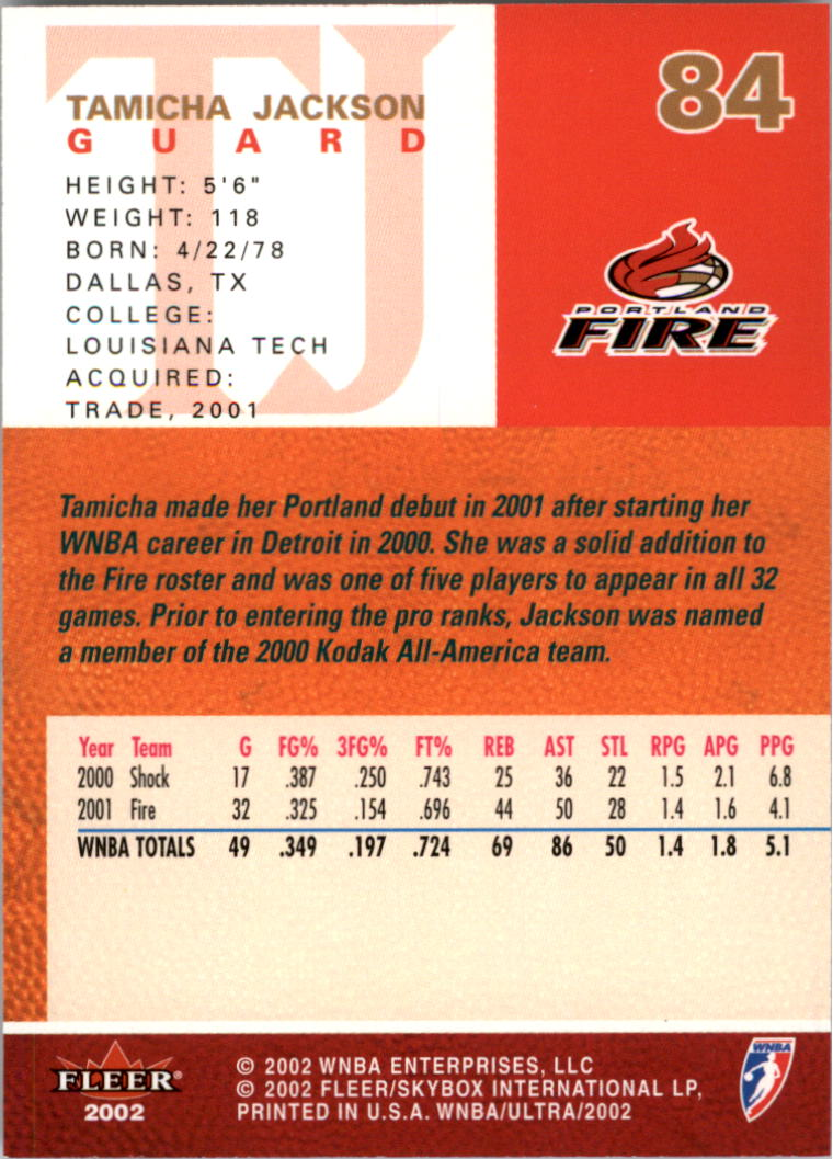 2002-Ultra-Wnba-Basketball-Carte-Choisissez miniature 169