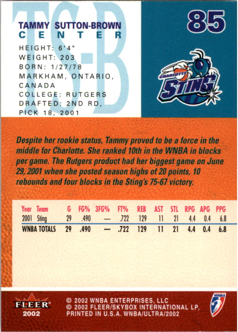 2002-Ultra-Wnba-Basketball-Carte-Choisissez miniature 171