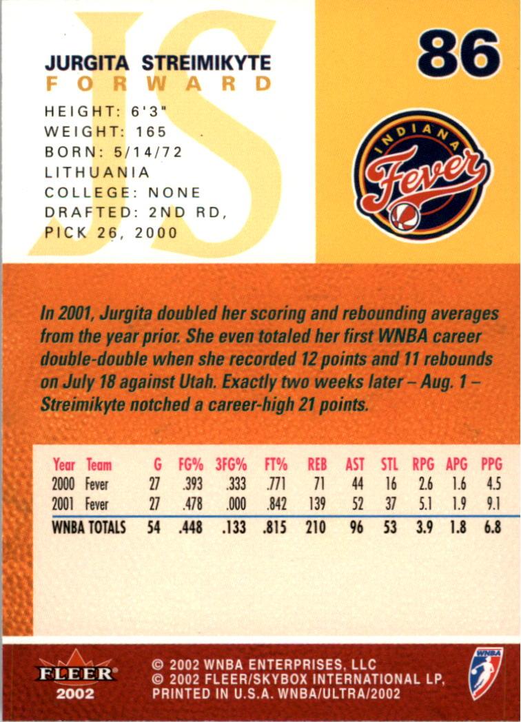 2002-Ultra-Wnba-Basketball-Carte-Choisissez miniature 173