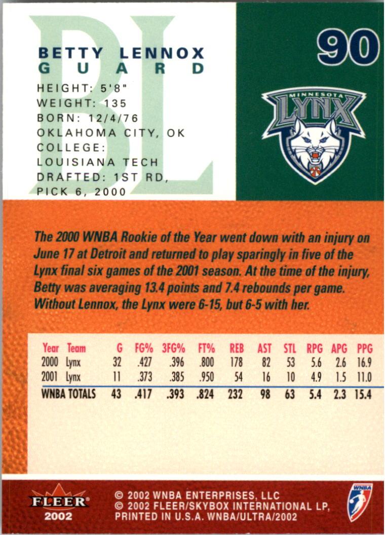 2002-Ultra-Wnba-Basketball-Carte-Choisissez miniature 181