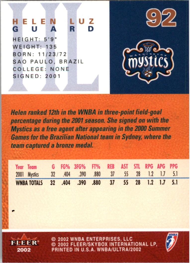 2002-Ultra-Wnba-Basketball-Carte-Choisissez miniature 185