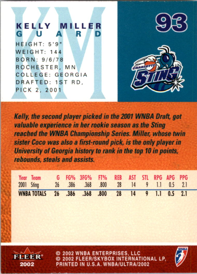 2002-Ultra-Wnba-Basketball-Carte-Choisissez miniature 187