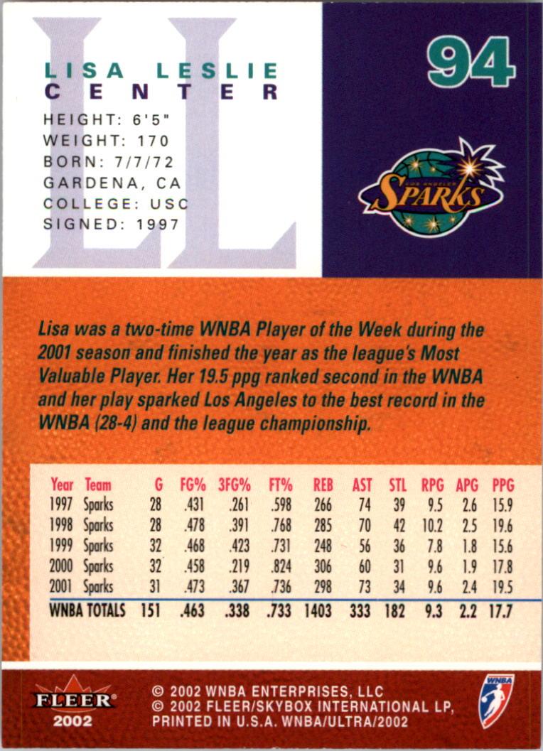 2002-Ultra-Wnba-Basketball-Carte-Choisissez miniature 189