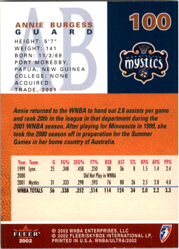 2002-Ultra-Wnba-Basketball-Carte-Choisissez miniature 201