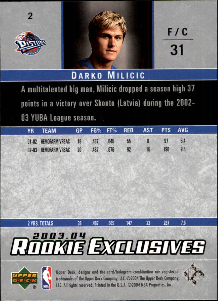 2003-04-Upper-Deck-Rookie-Exclusives-Basketball-Card-Pick thumbnail 3