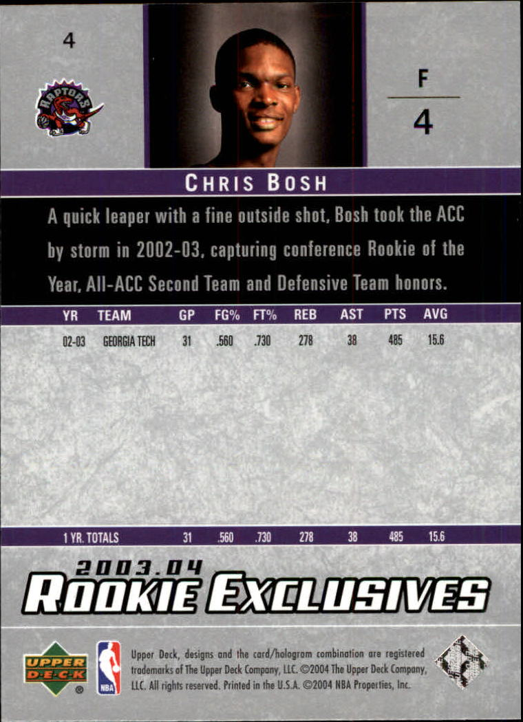 2003-04-Upper-Deck-Rookie-Exclusives-Basketball-Card-Pick thumbnail 6