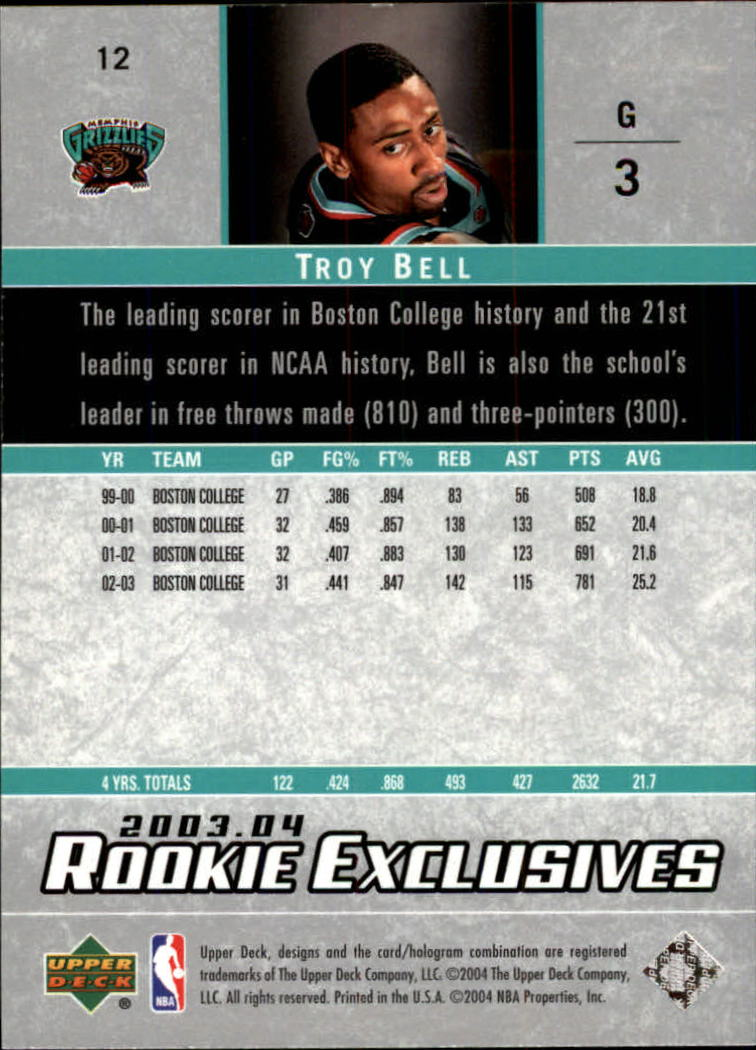 2003-04-Upper-Deck-Rookie-Exclusives-Basketball-Card-Pick thumbnail 20