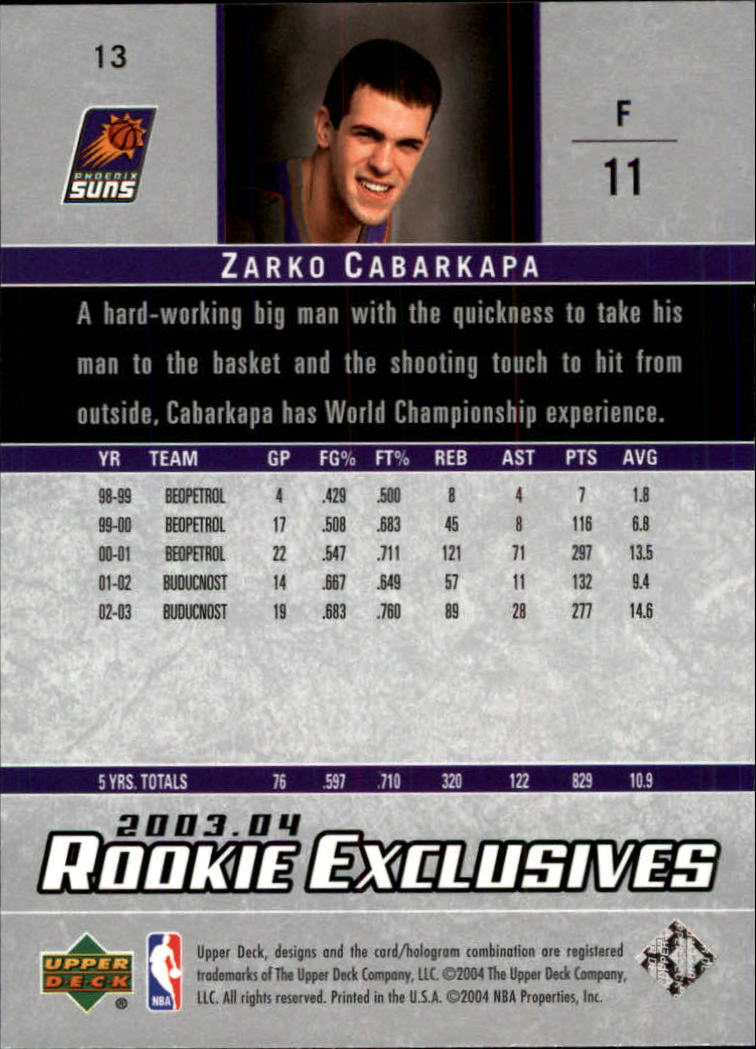 2003-04-Upper-Deck-Rookie-Exclusives-Basketball-Card-Pick thumbnail 22